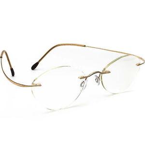 Silhouette Women's Eyeglasses Gold Rimless Metal Frame Austria 48[]19 130