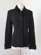 Zara Winter Collection Black Wool Faux Fur Collar & Cuffs Jacket Size 8