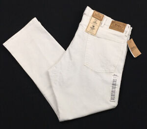 Men's Polo Ralph Lauren Hampton Relaxed Straight Jeans 40 x 32 40 32 Stone New