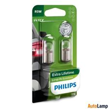 2x R5W Long Life Eco Vision lamp Car HALOGEN 12V 5W BA15s PHILIPS 12821LLECOB2