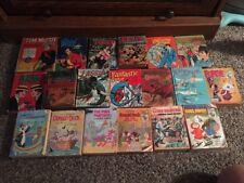 19  Big Little Books - Tarzan Flipper Dick Tracy Felix The Cat Lassie & More