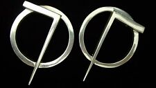 Vintage Glen Yank NY  Silver Large Designer Earrings