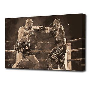 Tyson Fury Wilder Boxing Grunge Sports SINGLE CANVAS WALL ART AA1837