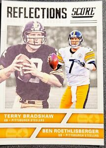 2017 TERRY BRADSHAW/ROETHLISBERGER 💥REFLECTIONS💥 Panini Score #7 - STEELERS