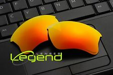 E28 FIRE ETCHED POLARIZED Replacement Legend Lenses For Oakley FLAK JACKET XLJ