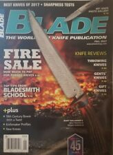 Blade Magazine Fall 2017 Fire Sale  Knife Reviews FREE SHIPPING mc