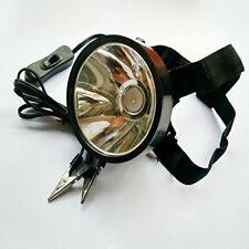 Lightweight Adjustable Led Headlamp w/ Alligator Clip for External Battery Power