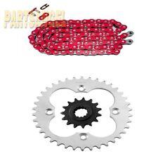 Red Drive Chain 15/38 Sprocket 1999-2004 2000 2001 2002 Honda TRX400 EX Sportrax