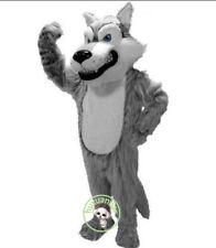 2018 Unisex Husky Long Fur Gray Wolf Mascot Costume Fox Dog Professional Adult