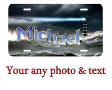 Personalized Lighthouse License Plate Car Tag  Custom any text or Name