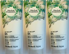 3PK HERBAL ESSENCES SET ME UP LILY OF THE VALLEY GEL MAX HOLD #4 6 oz each