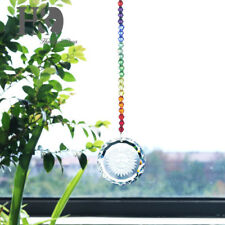 Clear Crystal Rainbow Maker Sun Face Suncatcher Hanging Bead Prisms Window Decor