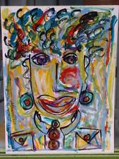 Acrylic Portrait Art Paintings