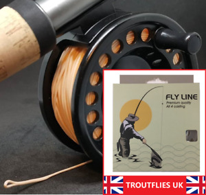 Fly Fishing Line with BACKING ATTACHED floating sinking intermediate TROUTFLIES.
