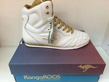 Women's KangaROOS,Mambo II MID, Top Sneaker White Leather Shoes, Brand New!!!
