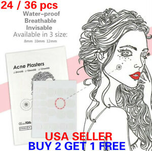 24/36PCS Skin Tag Acne Patch Dots Hydrocolloid Pimple Zits Remover Patches