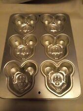New ListingDisney Mickey Mouse Mini Cake Pan Mold 6 Small Cakes Wilton Bakeware