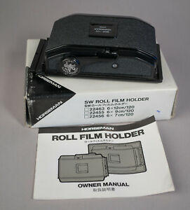 SW Holder or a SW612 Horseman, 8EXP/120 Roll Film Holder 6×9cm #22455, N Mint