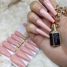 Pink Nude False Press On XL Ballerina Nails Set