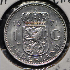 Netherlands 1971 Gulden Lion animal 900234 combine