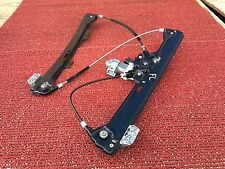 BMW 04-10 E60 E61 FRONT LEFT WINDOW REGULATOR TRACK AND MOTOR ACTUATOR OEM 113K