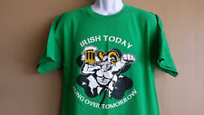 Irish Drinking T-Shirt, Size L, Beer, Hung Over