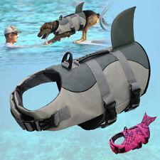 Dog Life Jacket Mermaid Pet Safety Vest Swimming Preserver Fish Saver Coat S M L
