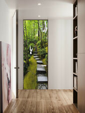 3D Stone Stairs Self-adhesive Door Sticker Mural Bedroom Decor Decal Photo
