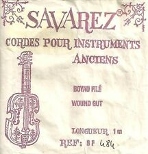 SAVAREZ- CORDE Au détail - Vielles à Roue - Boyau filé Argent - BF484 - 1 Mètre