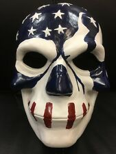 THE PURGE FIBERGLASS USA FLAG MOVIE FANCY DRESS MASK CHILD ADULT ELECTION YEAR 3