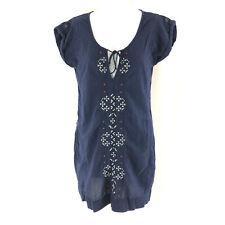 American Eagle Mini Shift Dress Boho Embroidered Lightweight Blue Size S