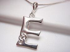 """Celtic Style Letter """"E"""" Pendant 925 Sterling Silver Corona Sun Jewelry e"""