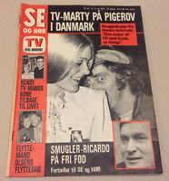 MARTY FELDMAN COPENHAGEN VISIT FLIRT WITH GIRL FROM DENMARK Danish Magazine 1972