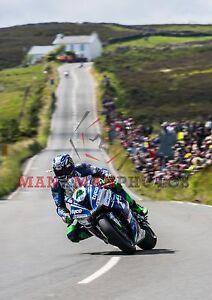 Ian Hutchinson 2017 Superbike  winner Isle of Man TT A4 size photo