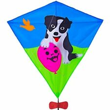 Zhuoyue Diamond Kite Dog 31 Inch Single Line Kids Easy To Fly With Long Tail And