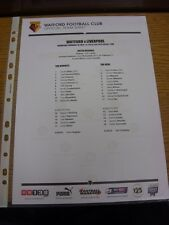 19/02/2014 Watford Youth v Liverpool Youth [FA Youth Cup] (single sheet). Thanks