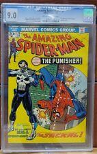 AMAZING SPIDER-MAN #129 1974 CGC 9.0 1st  PUNISHER  OLD LABEL!! NO RESERVE