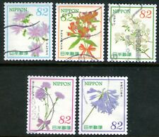 Japan 2016 82y Hospitality Flowers Series V set of 5 Fine Used