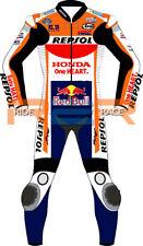 Honda Repsol Racing Biker Leather Suit Motorbike Racing leather suit Cowhide