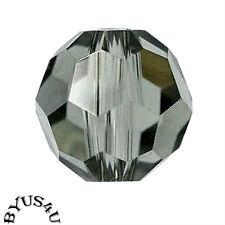 SWAROVSKI® CRYSTAL BEADS 7mm FACETED ROUND #5000 BLACK DIAMOND 8pc