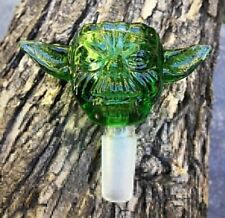 14mm Green Glass Bowl Star Wars Yoda Male Joint for Bong Water Hookahs Accessory