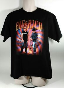 Big & Rich Muzik Mafia Black T-Shirt Mens Size Large
