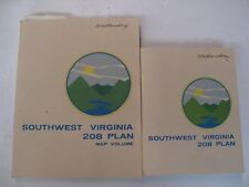 Lot of 2 SW Virginia Water Management Pollution Plan 1978 Color Maps Sewage