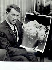 TYPE 1 1964 Original Photo Edmund Hillary poses with Mount Thamserku Peak photo