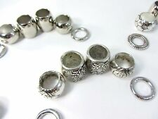 US SELLER-30 scarf rings large hole beads for DIY jewelry scarf  wholesale lot