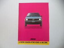 advertising Pubblicità 1984 FIAT RITMO 60 L