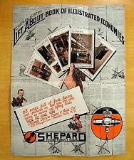 Advertising Poster SHEPARD ELECTRIC CRANES & HOISTS Montour Falls NY 1920's