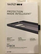 Tech21 Evo Check Case Cover Impact Protection for LG V20 Smokey Black NEW