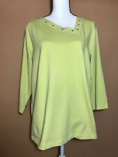 d3d3643c545 NEW NWT Caslon Lime Yellow Asymmetrical Neck Shirt Knit Top Plus Size 1X