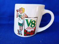 Vintage V8 Vegetable Juice Slanted Mug Cup Keep Your Diet Straight by RUSS ❤️J8